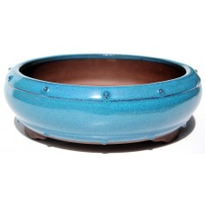 XY-105L - Light Blue Glazed Drum Pot