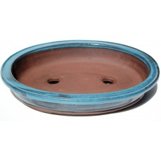 XY-101L - Set of 3 Light Blue Glaze Oval Pots