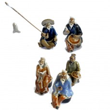 Assorted Figurines - Set 5 - Large men sitting- 10pcs