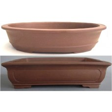 Unglazed Oval /Rectangle Bonsai Pots 35/36cm (4pcs)