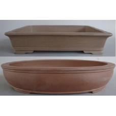 Unglazed Oval /Rectangle Bonsai Pots 45/44cm (2pcs)