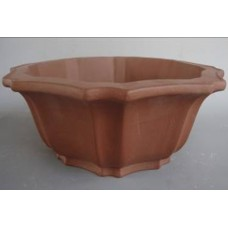 P-25 Floral bowl shaped unglazed pot 31cm (2 pcs)