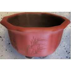 SL-207 Orange semi cascade bonsai pots Set of 3