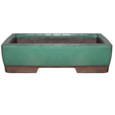 XY-133G Small Rectangle Bonsai Trays - Green Set of 2