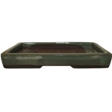 XY-123G Small rectangle Bonsai Trays - Green Glazed Set of 2