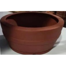 SD-15 - Unglazed semi cascade bonsai pots - 14.5cm (5pcs)