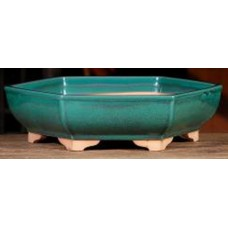 ZS32 - Green Glazed Bonsai Pot 28cm