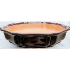 ZS8 - Burgundy Glazed Bonsai Tray 36cm