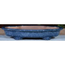 ZS56 - Green Glazed Bonsai Tray 27cm (*blue shown)