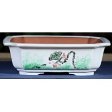 ZX131 - White Square Bonsai Pot 22cm